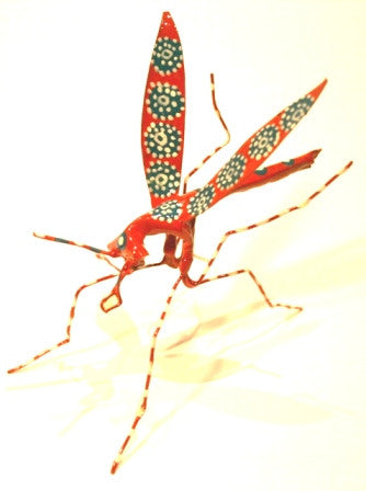 Hand Painted Tin Mosquito (trade min 4)