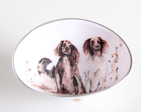 Spaniel Oval Bowl Small (min 4)