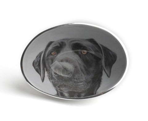 Black Labrador Oval Bowl Small (trade min 4)