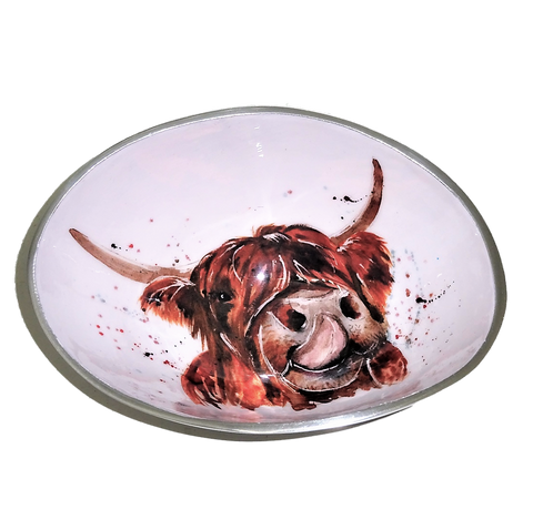 Highland Cow Oval Bowl Small (min 2)