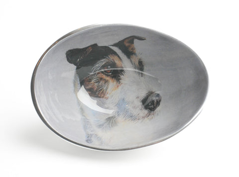 Jack Russell Oval Bowl Small (min 4)