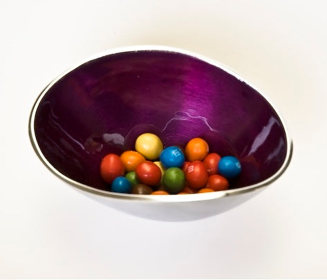Purple Oval Bowl Small (min 2)