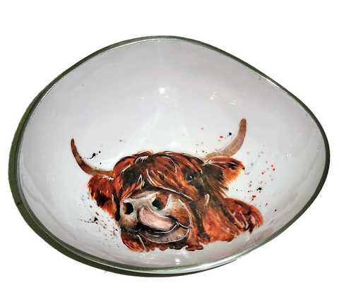 Highland Cow Oval Bowl (trade min 4)
