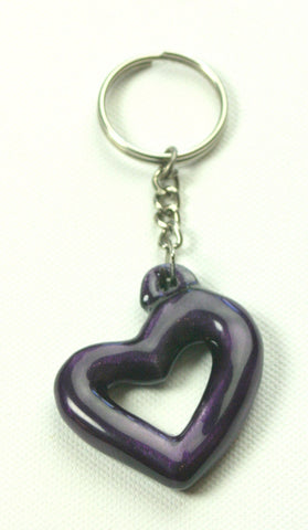 Purple Aluminium Heart Keyring (trade min 6)