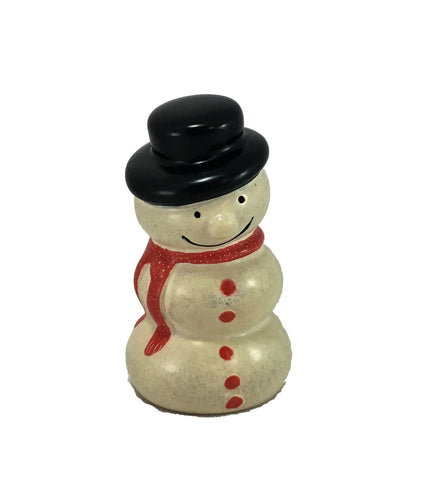 Red Scarf Round Snowmen 7 cm (min 6) *In Stock From April 2018*