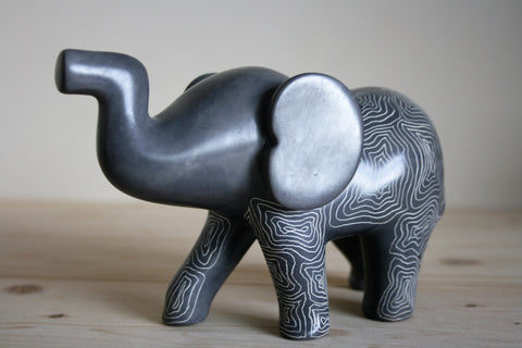 Champagne Grey Sagana Elephant 18cm (min 1) Limited Stock
