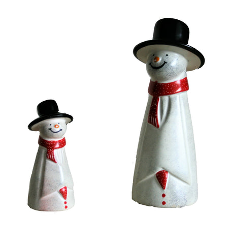 Red Scarf Snowman 10 cm (trade min 6)