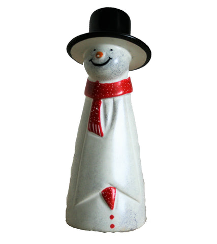 Red Scarf Snowman 18 cm (min 2) *In Stock From April 2018*