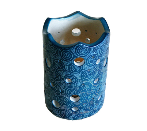 Peacock Blue Lantern 10cm (min 6) *In Stock From April 2018*