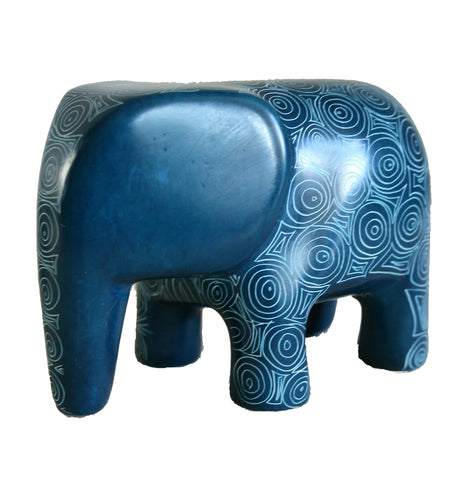 Peacock Blue Serengeti Elephant 10cm (min 3) *In Stock From April 2018*