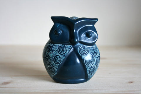 Peacock Blue Signum Owl 10cm (min 3) *In Stock From April 2018*
