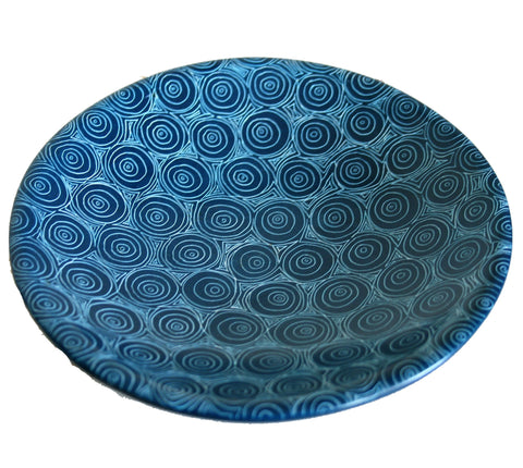 Peacock Blue Bowl 15cm (min 6) *In Stock From April 2018*