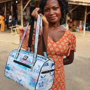 Recycled Water Sachet Akoma Bag (Hand/Shoulder Bag 20x30x14cm) Was £44.99