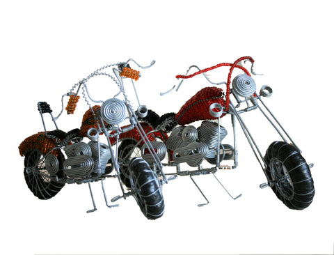 Wire & Bead Motorbikes Large 25 cm (min 1) *In Stock From April 2018*