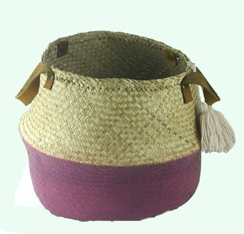 Plum Seagrass Basket (min 2)