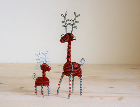 Beaded Reindeer Small 10 cm (min 6)