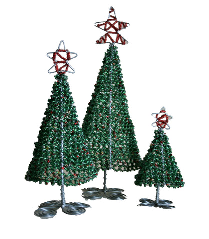 Beaded Christmas Trees Small 12 cm (min 6)