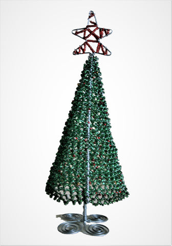 Beaded Christmas Trees Medium 20 cm (min 4) *