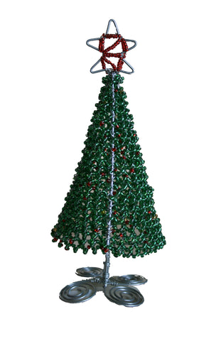 Beaded Christmas Trees Small 12 cm (min 6) *In Stock From April 2018*