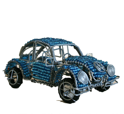 Beaded VW Beetle 12 cm (min 2)