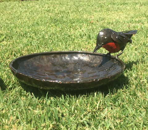 Red Robin Bird Bath / Feeder