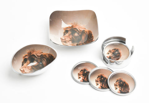 Brown Spaniel Coasters Set of 6 (min 4)