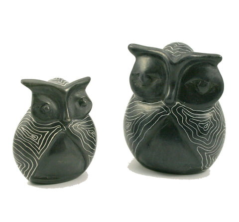 Champagne Grey Signum Owl 7cm (trade min 6)  (CURRENTLY OUT OF STOCK)