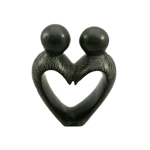 Champagne Grey Heart Couple 15cm (min 4)