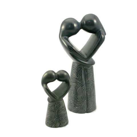 Champagne Grey Kissing Lovers 10cm (trade min 6)