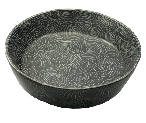 Champagne Grey Fruit Bowl 30cm