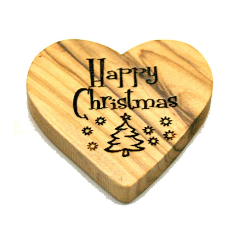 Olivewood Happy Christmas Hearts (min 24)