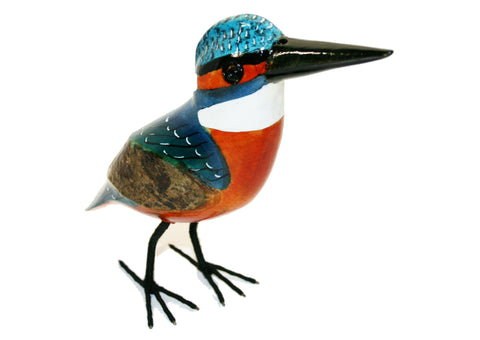 Painted Wooden Kingfisher Large (min 2)