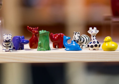 Mini Soapstone Animals 3 cm (24 display box - min 24)