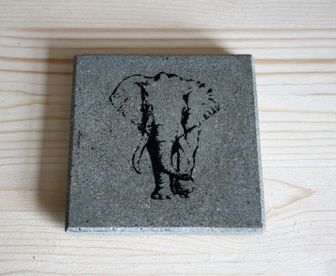 Elephant Black Set of 4 Coasters (min 4)