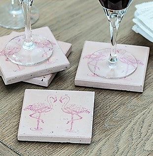 Pink Flamingo Set of 4 Coasters (min 4)