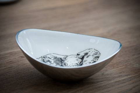 Elephant Oval Bowl Small (min 2)
