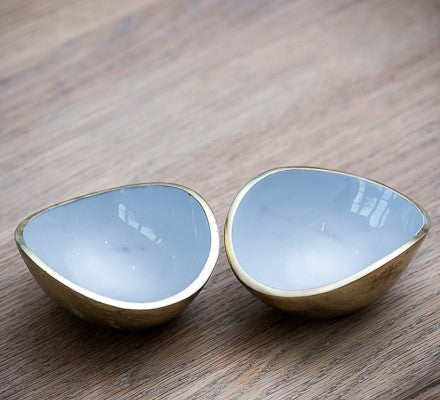 Gold & Grey Oval Bowl Mini (min 4)