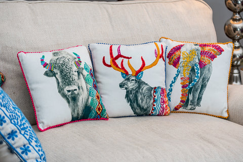 Stag Cushion (min 2)