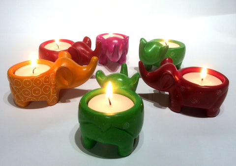 Mara Elephant Tealight (assorted colours - min set of 6)