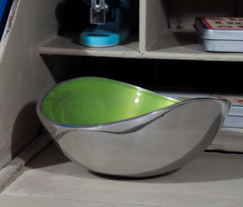 Lime Oval Bowl Small (min 4)