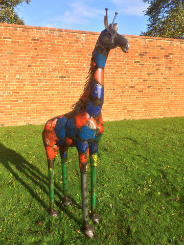Standing Coloured Giraffe - Small