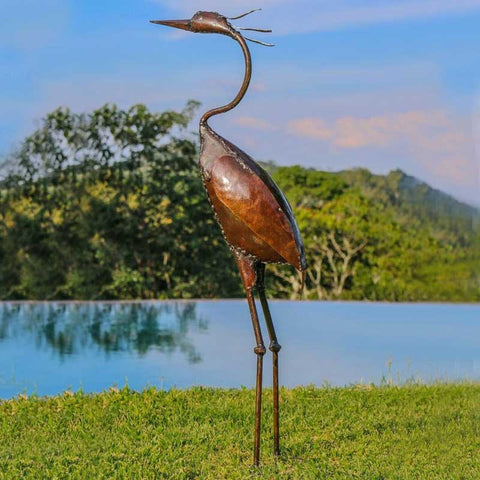 Standing Grey Heron Medium