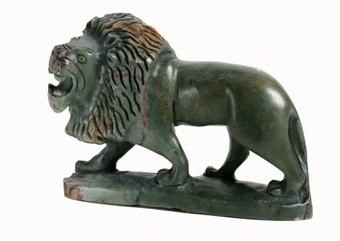 Hand Carved Stone Lion
