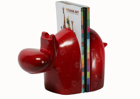 Hippo Bookend Pair
