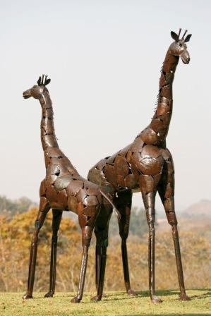Standing Natural Giraffe - Medium