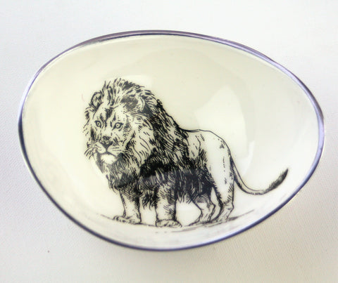 Lion Oval Bowl Small (min 2)