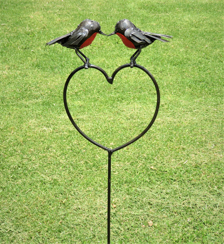 Kissing Robin Heart Plant Stake (New March 2018)