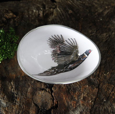 Pheasant Oval Bowl Small (Trade min 4 / Retail min 1)