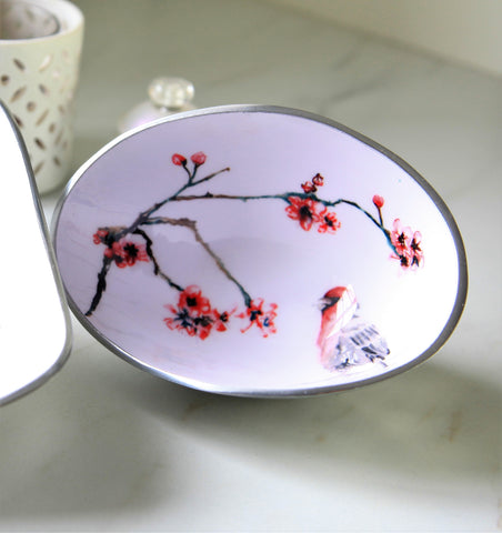 Japanese Blossom Oval Bowl Petite (trade min 4)
