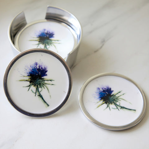 Thistles Coasters Set of 6 (trade min 4)
